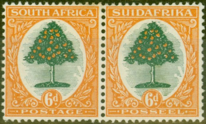 Collectible Postage Stamp from South Africa 1926 6d Green & Orange SG32 Fine Lightly Mtd MInt
