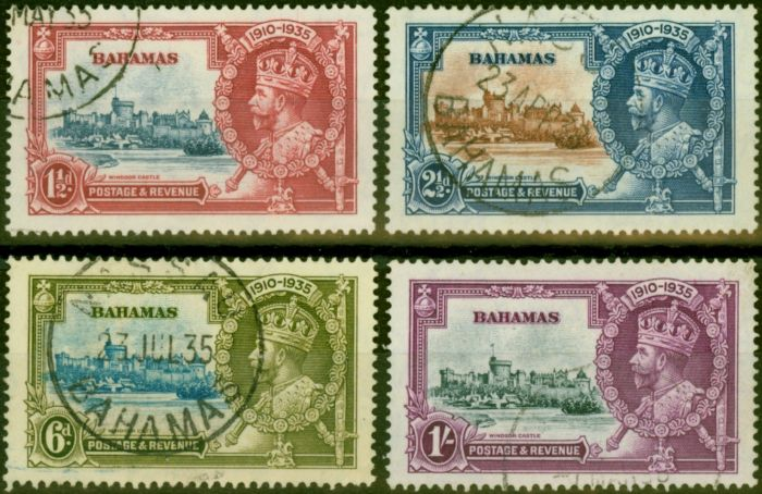 Collectible Postage Stamp from Bahamas 1935 Jubilee Set of 4 SG141-144 Fine Used