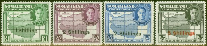 Old Postage Stamp from Somaliland 1951 set of 4 High Values SG132-135 Fine MNH