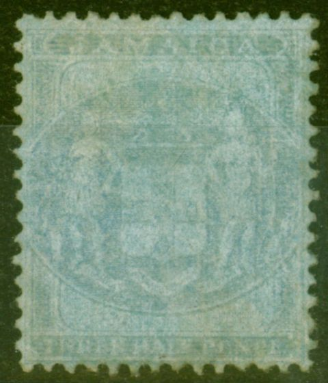 Old Postage Stamp from Jamaica 1857 1 1/2d Blue-Blue SGF4 Ave Mtd Mint