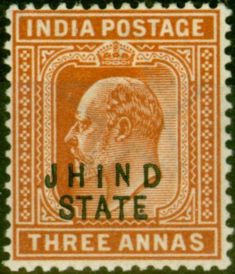 Jind 1903 3a Orange-Brown SG48 Fine Mtd Mint