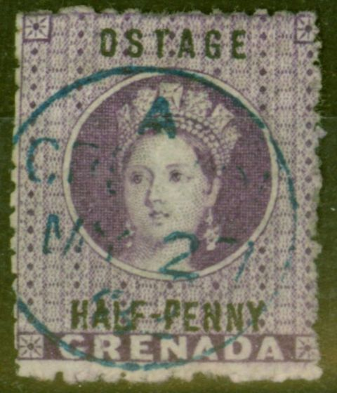 Collectible Postage Stamp from Grenada 1881 1/2d Dp Mauve SG21c OSTAGE Error Fine Used CDS