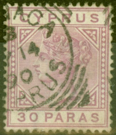 Collectible Postage Stamp from Cyprus 1882 30pa Pale Mauve SG17 Fine Used