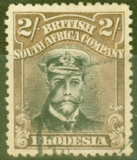 Valuable Postage Stamp from Rhodesia 1919 2s Black & Yellow-Brown SG273a Die III Fine Used