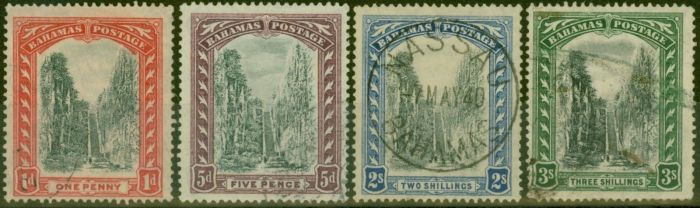 Old Postage Stamp from Bahamas 1921-29 set of 4 SG111-114 Fine Used