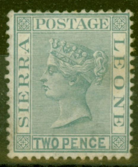 Old Postage Stamp from Sierra Leone 1884 2d Grey SG30 Good Lightly Mtd Mint