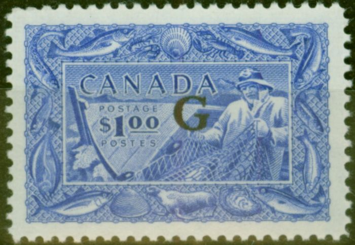 Valuable Postage Stamp from Canada 1951 $1 Ultramarine SG0192 V.F LIghtly Mtd Mint