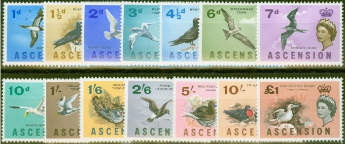 Rare Postage Stamp from Ascension 1963 Birds set of 13 SG70-83 V.F Very Lightly Mtd Mint