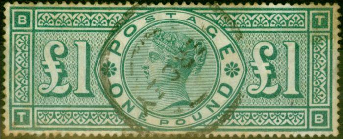 GB 1891 £1 Green SG212 Good Used