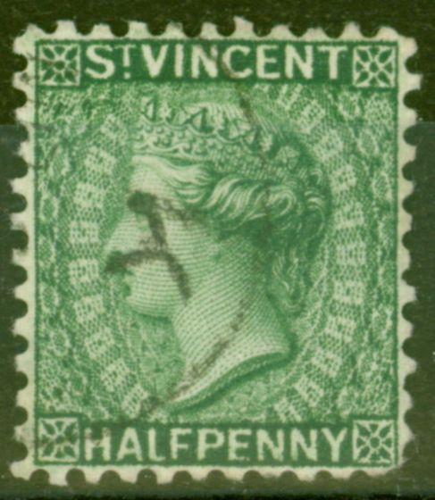 Collectible Postage Stamp from St Vincent 1884 1/2d Green SG42 Fine Used