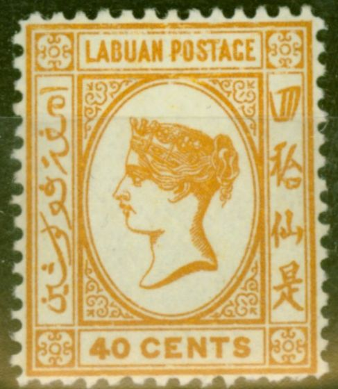 Old Postage Stamp from Labuan 1893 40c Brown-Buff SG47a Fine Mtd Mint (15)
