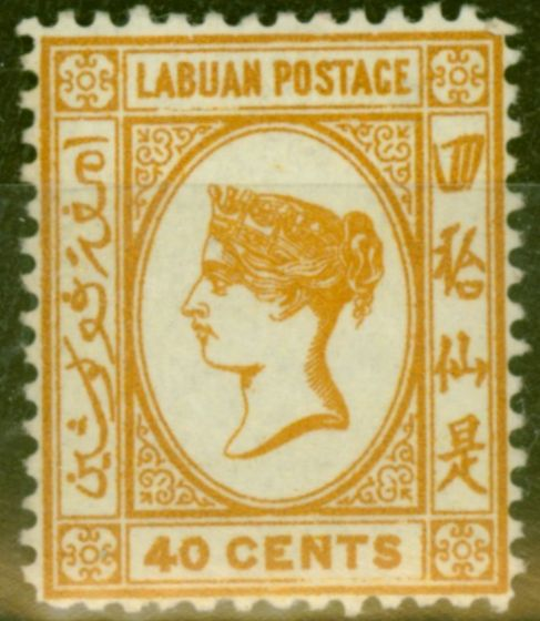 Collectible Postage Stamp from Labuan 1893 40c Brown-Buff SG47a Fine Mtd Mint (16)