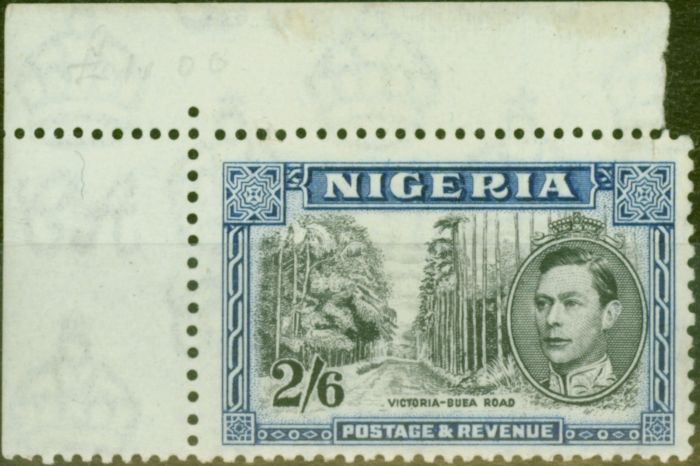 Rare Postage Stamp from Nigeria 1938 2s6d Black & Blue SG58 P.13 x 11.5 Fine Mtd Mint