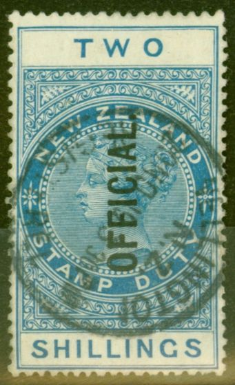 Old Postage Stamp from New Zealand 1915 2s Dp Blue SG085 P.14.5 x 14 Fine Used
