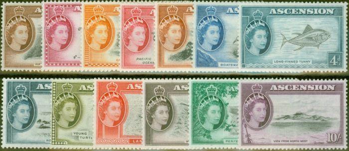 Valuable Postage Stamp from Ascension 1956 set of 13 SG57-69 V.F Lightly Mtd Mint
