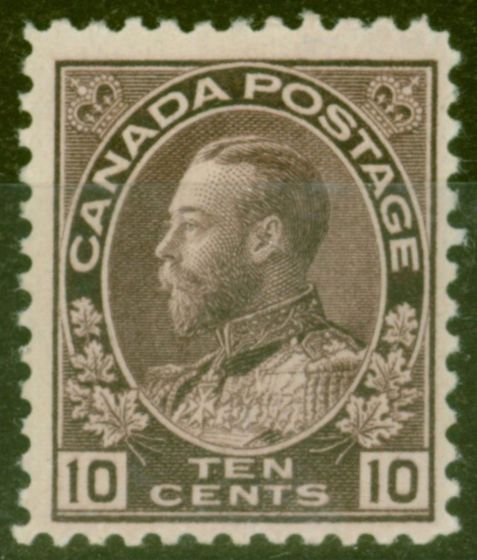 Old Postage Stamp from Canada 1911 10c Reddish Purple SG211 Very Fine Lightly Mtd Mint