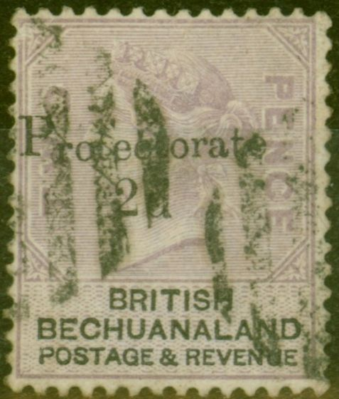 Valuable Postage Stamp from Bechuanaland 1888 2d on 2d Lilac & Black SG42 Fine Used