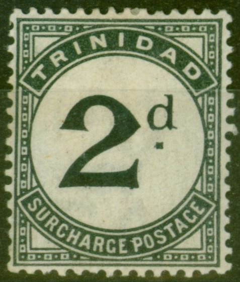 Collectible Postage Stamp from Trinidad 1885 2d Slate-Black SGD3 Fine Mtd Mint