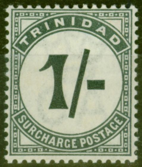 Collectible Postage Stamp from Trinidad 1885 1s Slate-Black SGD9 Column 4 107 Degrees Fine & Fresh LMM