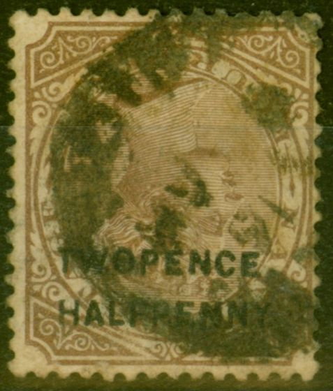Collectible Postage Stamp from Natal 1891 2 1/2d on 4d Brown SG109d Surch Inverted Ave Used