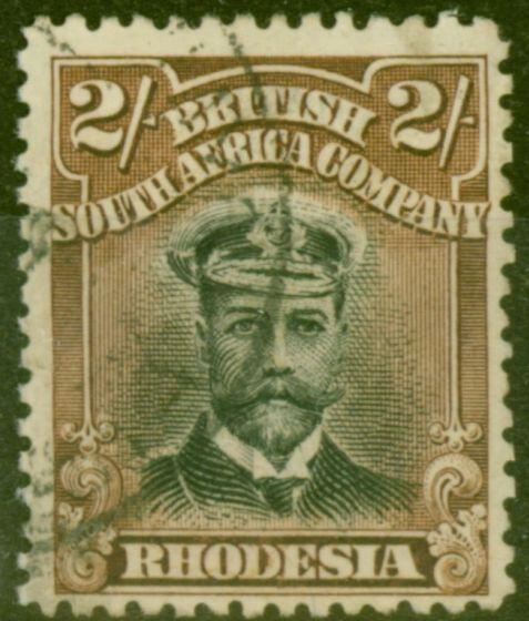 Valuable Postage Stamp from Rhodesia 1913 2s Black & Brown SG234 Die II V.F.U