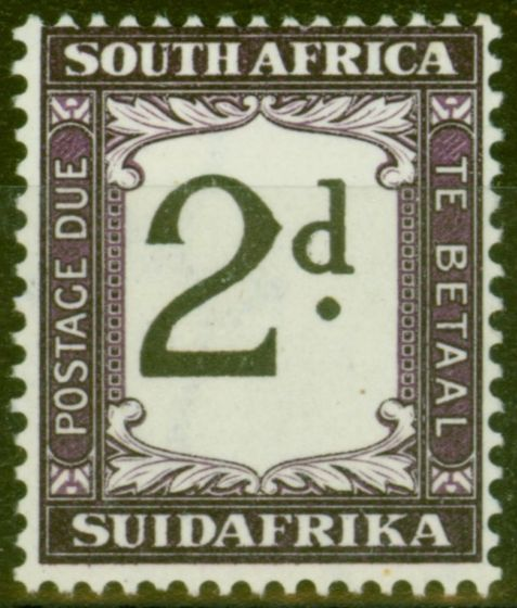 Old Postage Stamp from South Africa 1939 2d Black & Dp Purple SGD26 Fine Lightly Mtd Mint