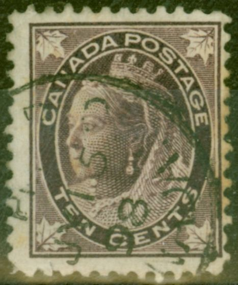 Rare Postage Stamp from Canada 1898 10c Brownish Purple SG149 Good Used