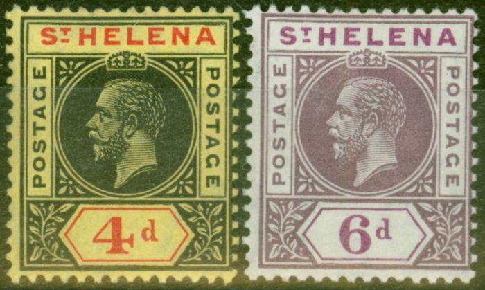 Valuable Postage Stamp from St Helena 1913 set of 2 SG85-86 V.F Lightly Mtd Mint