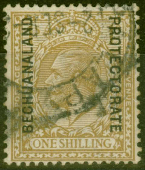 Old Postage Stamp from Bechuanaland 1923 SG82a 1s Bistre-Brown Fine Used
