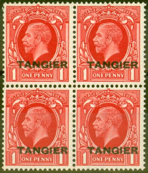 Valuable Postage Stamp from Tangier 1934 1d Scarlet SG236 V.F MNH Block of 4