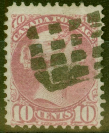 Valuable Postage Stamp from Canada 1876 10c Pale Lilac Magenta SG87 Fine Used