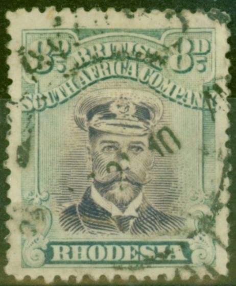 Valuable Postage Stamp from Rhodesia 1919 8d Mauve & Dull Blue-Green SG267 Good Used