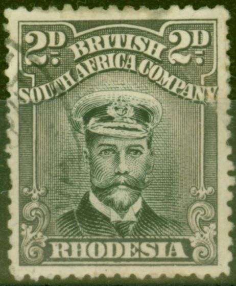 Rare Postage Stamp from Rhodesia 1923 2d Black & Slate-Purple SG292 Good Used