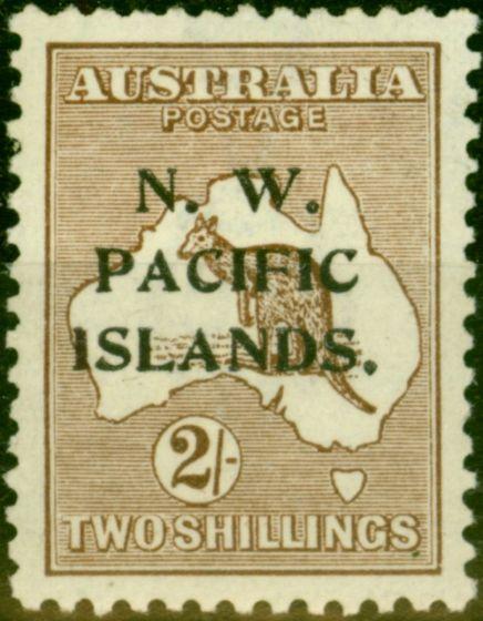 New Guinea 1916 2s Brown SG97w (A) Wmk Inverted Fine & Fresh Mtd Mint