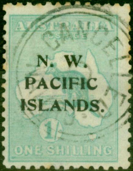 New Guinea 1919 1s Emerald SG113 Fine Used