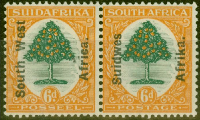 Old Postage Stamp from S.W.A 1926 6d Green & Orange SG43 Fine & Fresh Lightly Mtd Mint