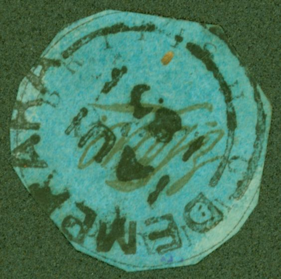 Collectible Postage Stamp from British Guiana 1851 12c Pale Blue Cotton Reel SG7 Good Used Example of this Rare Classic