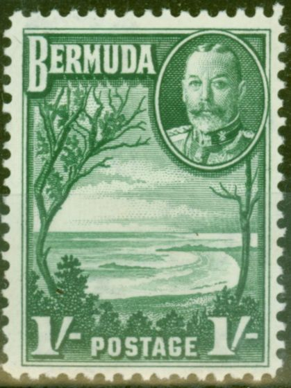 Valuable Postage Stamp from Bermuda 1936 1s Green SG105 V.F Lightly Mtd Mint