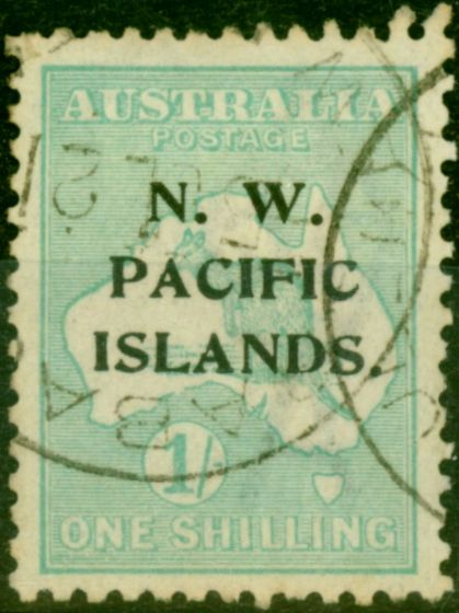 New Guinea 1919 1s Pale Blue-Green SG113a Fine Used
