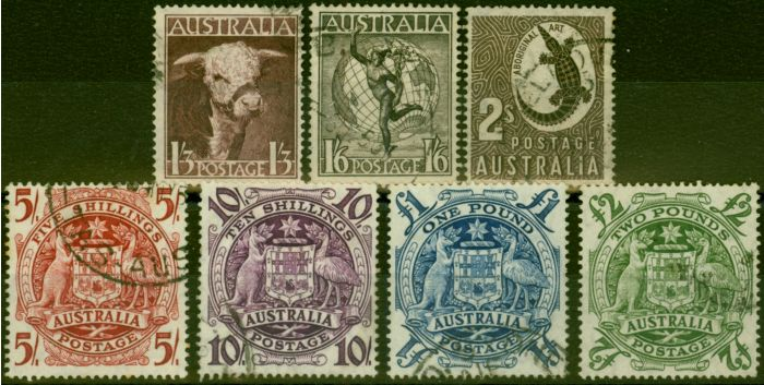 Valuable Postage Stamp from Australia 1948 Set of 7 SG223-224d Fine Used