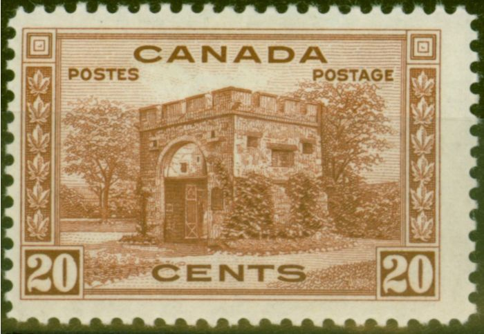 Rare Postage Stamp from Canada 1938 20c Red-Brown SG365 V.F Very Lightly Mtd Mint