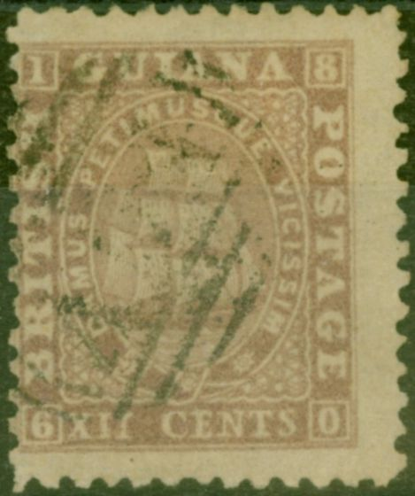 Collectible Postage Stamp from British Guiana 1862 12c Lilac SG49 P.12 Fine Used.