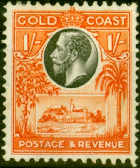 Valuable Postage Stamp from Gold Coast 1928 1s Black & Red-Orange SG110 Fine Mtd Mint Stamp