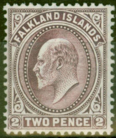 Collectible Postage Stamp from Falkland Islands 1912 2d Reddish Purple SG45b V.F Very LMM Supplied with Normal