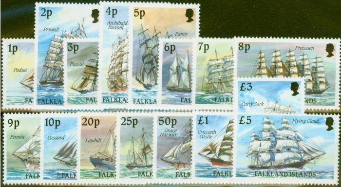 Old Postage Stamp from Falkland Islands 1989 Cape Horners set of 16 SG567-582 V.F MNH