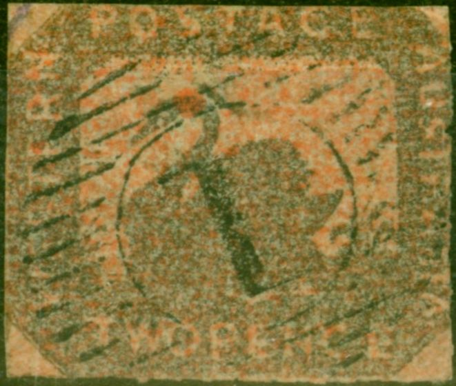 Collectible Postage Stamp from Western Australia 1857 2d Brown-Black-Indian Red SG21 Rouletted Fine Used Scarce