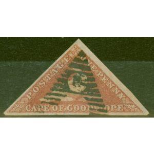 Cape of Good Hope 1853 1d Brick-Red SG3 V.F.U 3 Large Margins