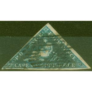Cape of Good Hope 1853 4d Dp Blue SG2 Fine Used