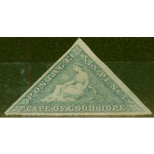 Cape of Good Hope 1862 6d Slate-Lilac Blued Paper SG7c Fine & Fresh Unused Scarce