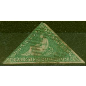 Cape of Good Hope 1863 1s Brt Emerald-Green SG21 Good Used